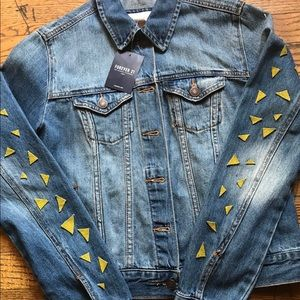Forever 21 Jackets & Coats - Hand painted Simpson's jean jacket
